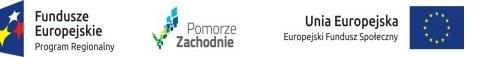 Logo Funduszy Europejskich, Pomorza Zachodniego oraz Europejskiego Funduszu Społecznego